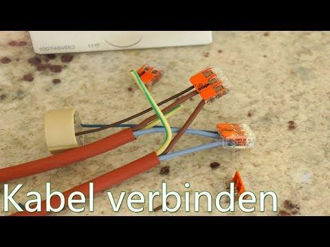 Tutorial: Kabel verbinden - Wago Klemmen - in Verbindung mit GU10 Fassung