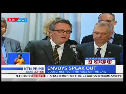 Diplomatic envoys speak out on coming elections urging politicians to maintain peace