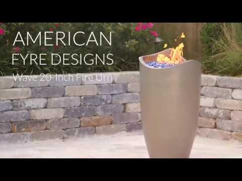 American Fyre Designs Wave 20-Inch Fire Urn - Smoke