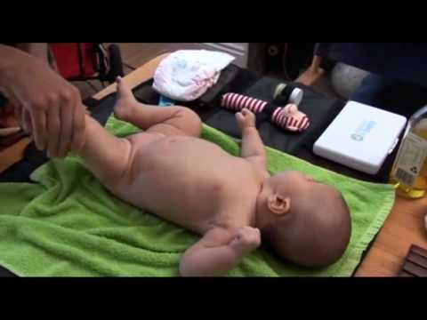 Baby massage entschpanungs massage