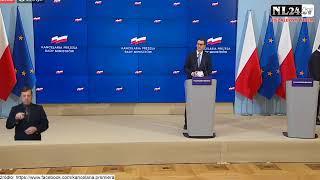 Kolejne obostrzenia – konferencja premiera Morawieckiego i ministra Szumowskiego
