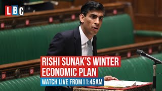 Rishi Sunak set to launch his 'Winter Economic Plan' to the commons | Watch live on LBC from 12:30pm