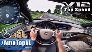 MERCEDES MAYBACH 6.0 V12 BiTurbo ACCELERATION & TOP SPEED AUTOBAHN POV by AutoTopNL
