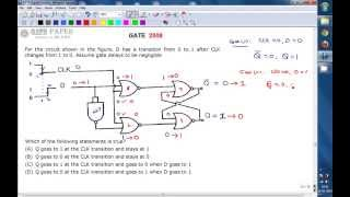 GATE 2008 ECE Output of given sequential circuit