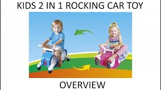 Childrens 2 In 1 Kids Rocking Toy Balance Car It Rocks And It Rolls