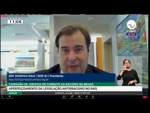 Maia instala comissão que vai revisar leis de combate ao racismo – 21/01/21
