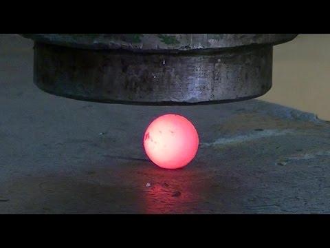 bola de acero al rojo vivo RHNB vs prensa hidráulica