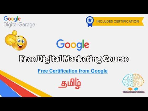 Google Free Digital Marketing Course with Certification in Tamil ...