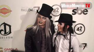 Adam Lambert and Sauli Koskinen attend Fred and Jason's 7th Annual Halloween party
