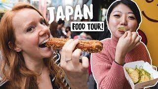 JAPANESE STREET FOOD TOUR With CupofTJ!! (Harajuku - Tokyo, Japan)