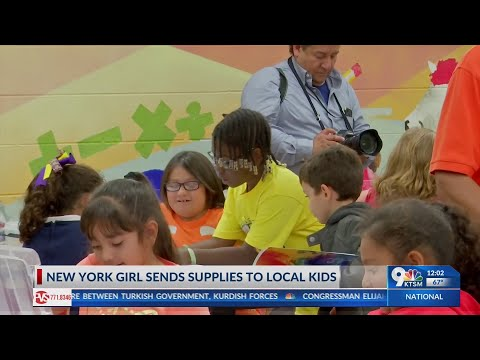 New York girl sends supplies to El Paso kids