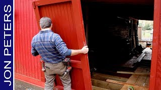 Trim,  Fix And Hang Old Barn Doors