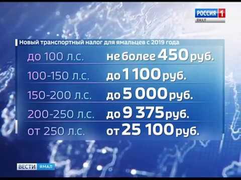 Транспортный налог на Ямале в 2019 году: ставки, изменения, льготы