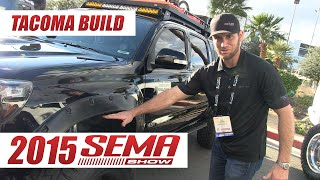 "Tacoma ""Adventure"" Build at 2015 SEMA Show with @defconbrix"