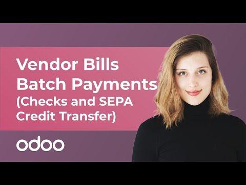 Vendor Bills Batch Payments (Checks and SEPA Credit Transfer) | odoo Accounting