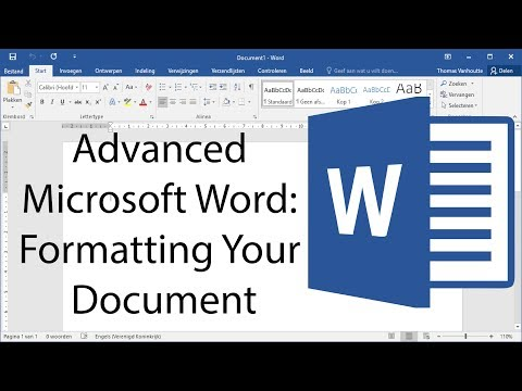 Advanced Microsoft Word – Formatting Your Document