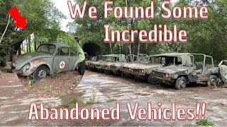 We Explore A Huge Collection Of Abandoned vehicles! You Won't Believe What We Found!!!