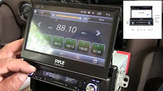 How to install Touchscreen Bluetooth Car Stereo - 7 single Din Pyle