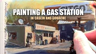 Painting A Gas Station In Gouache With James Gurney