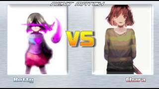 MUGEN Kor Betty vs Kor Chara. Undertale/Glitchtale