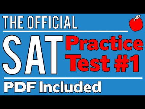 New SAT - Official Test #1 - Math Sect. 4 - Q11-20 - YouTube