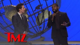 Kanye West Defends Joel Osteen from the Pulpit at Lakewood Church | TMZ