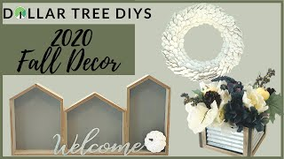 *NEW* DOLLAR TREE FALL DIY FARMHOUSE DECOR 2020