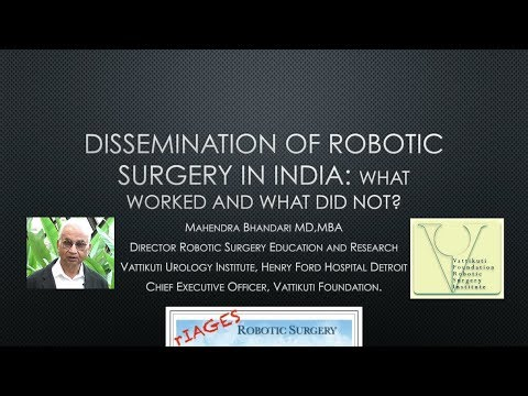 The Dissemination of Robotic Surgery in India