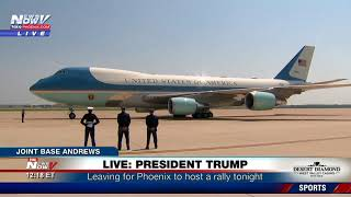 WATCH: President Trump Leaving Joint Base Andrews For Phoenix Rally Tonight