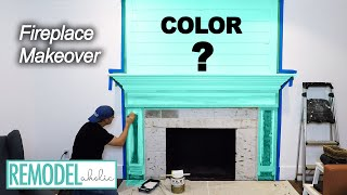 DIY Fireplace Makeover Part Two | KILZ Primer And Paint | Remodelaholic