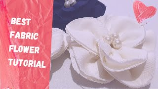 How To Make Fast And Easy Fabric Flower | Fabric Flower Tutorial