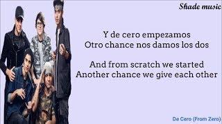 CNCO - De Cero (From Zero) (English and Spanish Lyrics)