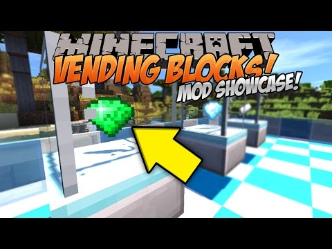 Minecraft Mod Showcase | VENDING BLOCKS!