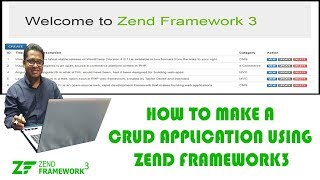 How to Make a CRUD Application using Zend Framework3
