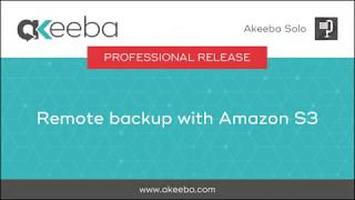 Watch a video on Remote Backup with Amazon S3 [03:37]