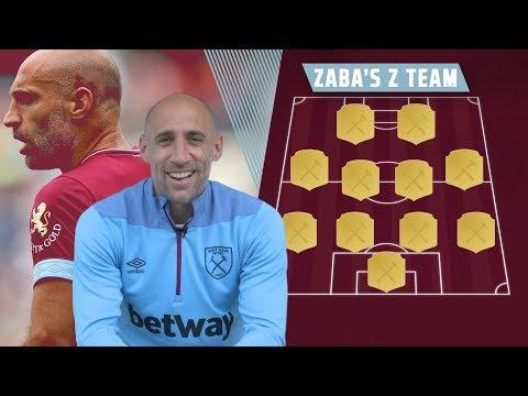 ZABA'S Z TEAM | PABLO ZABALETA' S WORLD XI TEAM