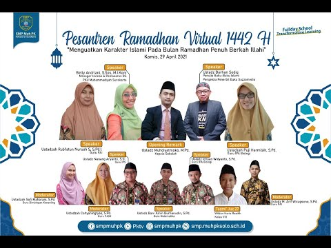 Penguatan Karakter Islami Melalui Pesantren Ramadan Virtual 1442 H