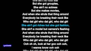 Who Dat Girl - Flo Rida ft. Akon Lyrics