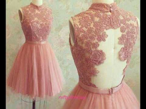Hermosos Vestidos Color Rosa Palo Color De Tendencia Moda
