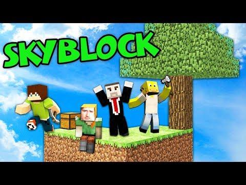 LEGENDÁRNÍ SÉRIE je zpět!   SkyBlock #1 w/ MenT, Bax, Wedry