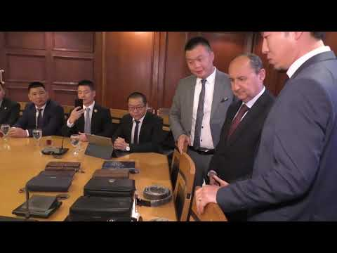 الوزير / عمرو نصار يجتمع مع وفد من شركات الجلود الصينية