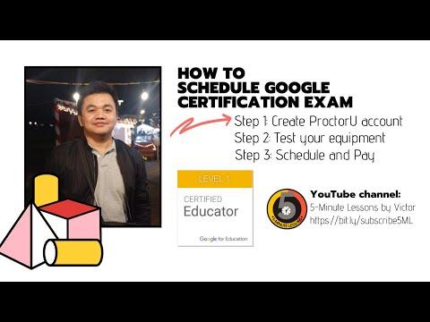 Part 1 of 3 - How to Schedule Google Educator Certification Exam ...