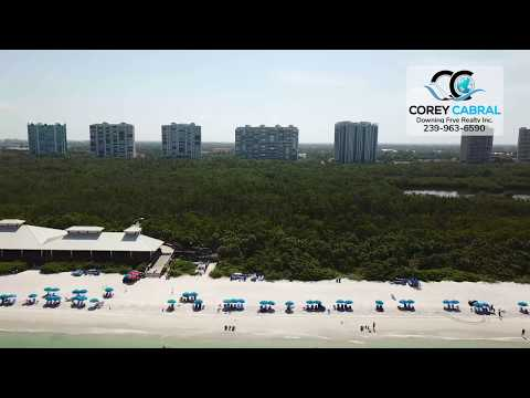 Naples Pelican Bay North beach club fly over video