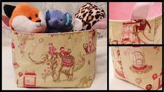 Fabric Storage Basket How To DIY - Whitney Sews