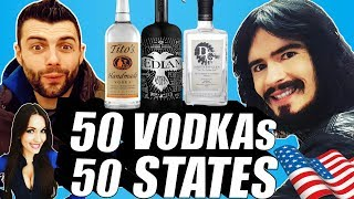 Irish People Try 50 VODKAs From 50 AMERICAN STATES!! + What's Inside Box Challenge (14)