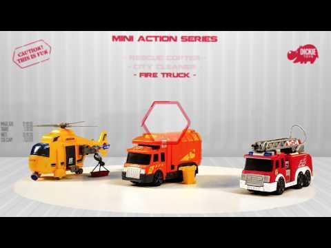 Пожарная машина Dickie со светом и звуком и водным эффектом, 15см, 20 330 2002