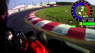 preview picture of video 'Lonato Kart 2013.10.26 Session 5 Telemetrie Data Onboard helmet Cam DR TM KZ10'