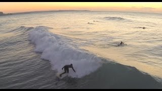 Newquay from above: Porth, Towan, Fistral + surfing. 1080p 60fps