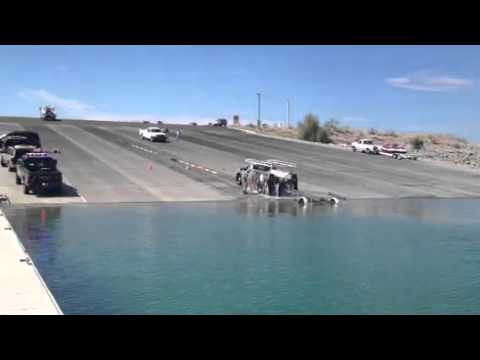 Truck Rolls In To Water Lake Pleasant Boat Launch
