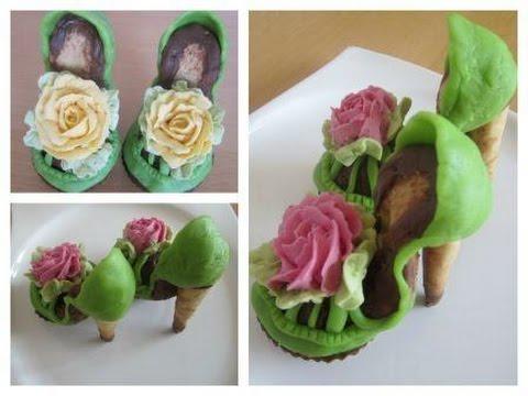 Schuhe aus Muffins und Plätzchen selber machen.